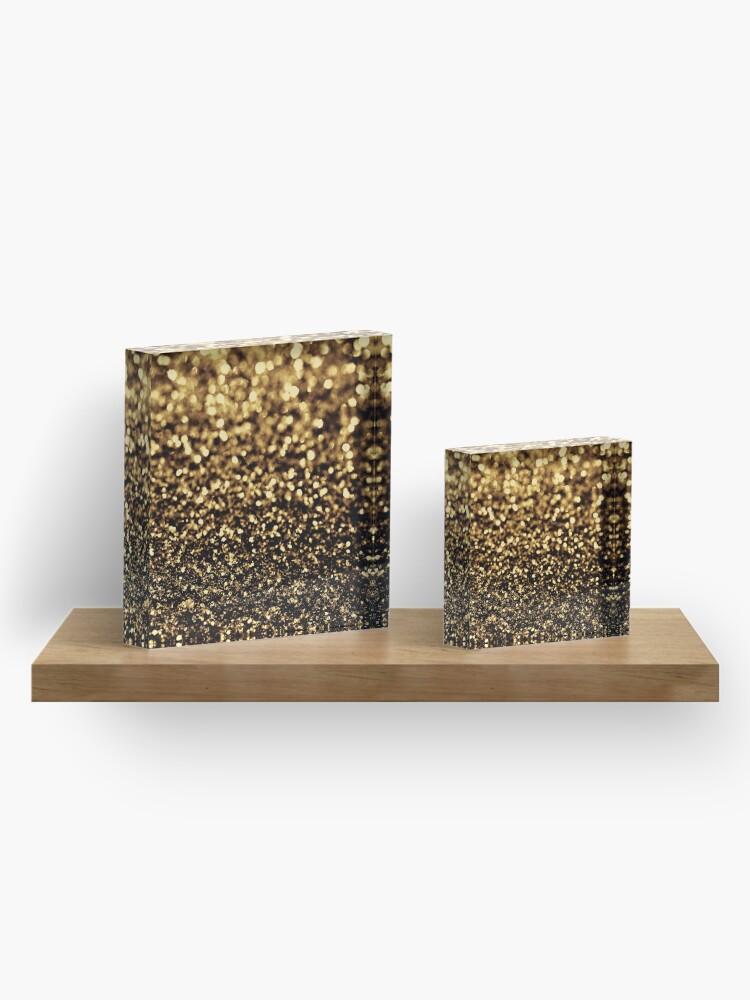 Alternate view of black gold Acrylic Block