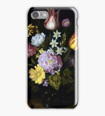 Ambrosius Bosschaert the Elder, Flowers in a Glass Vase iPhone Case/Skin