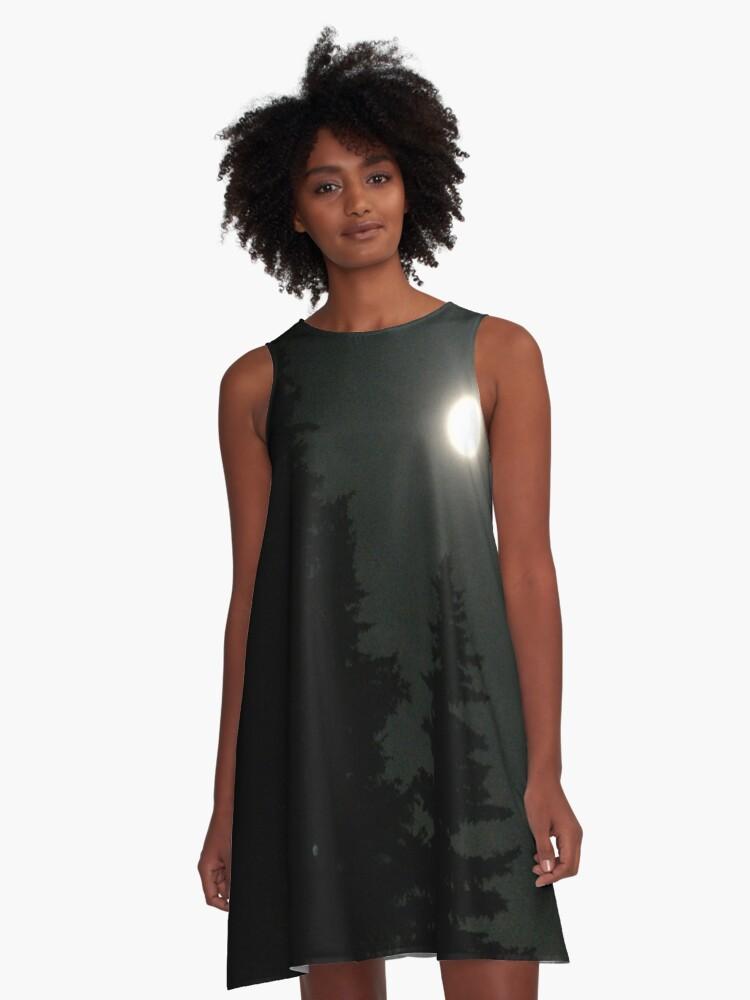 Moonlit Darkness A-Line Dress Front