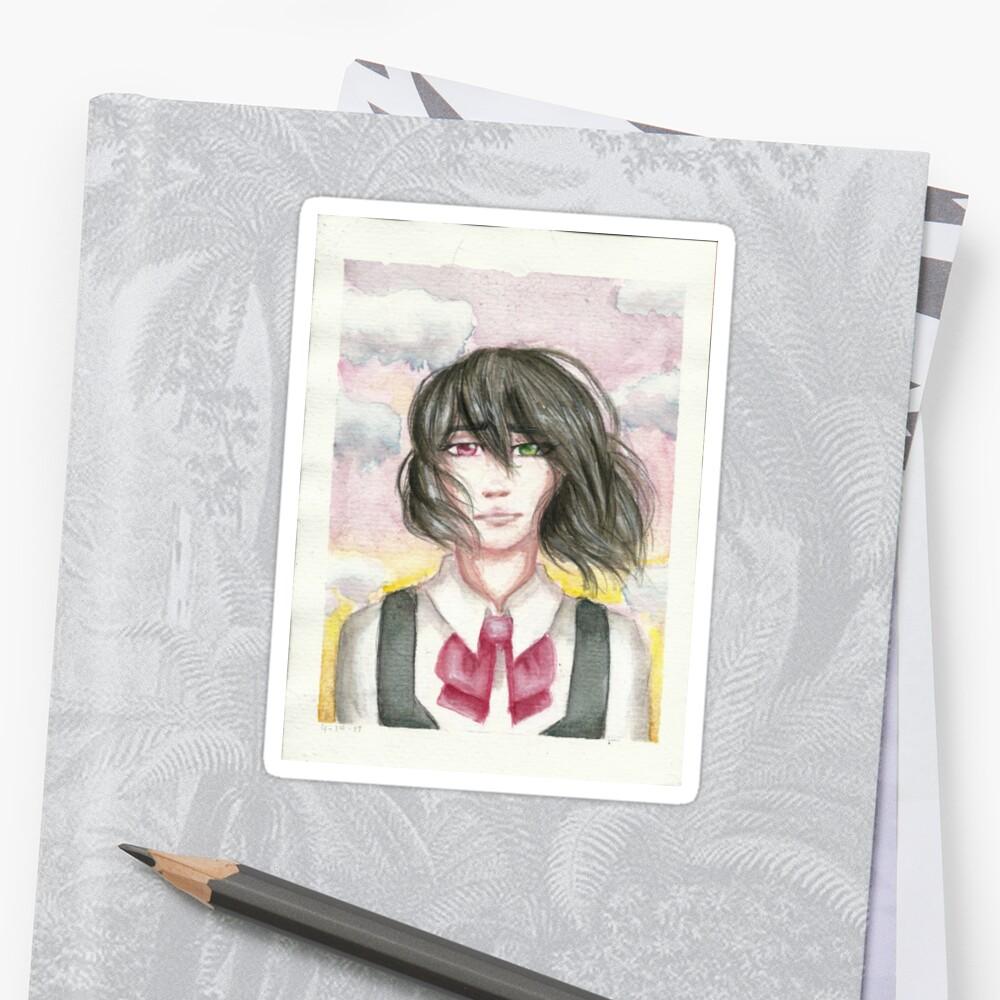 misaki mei sticker by maroonchemist redbubble