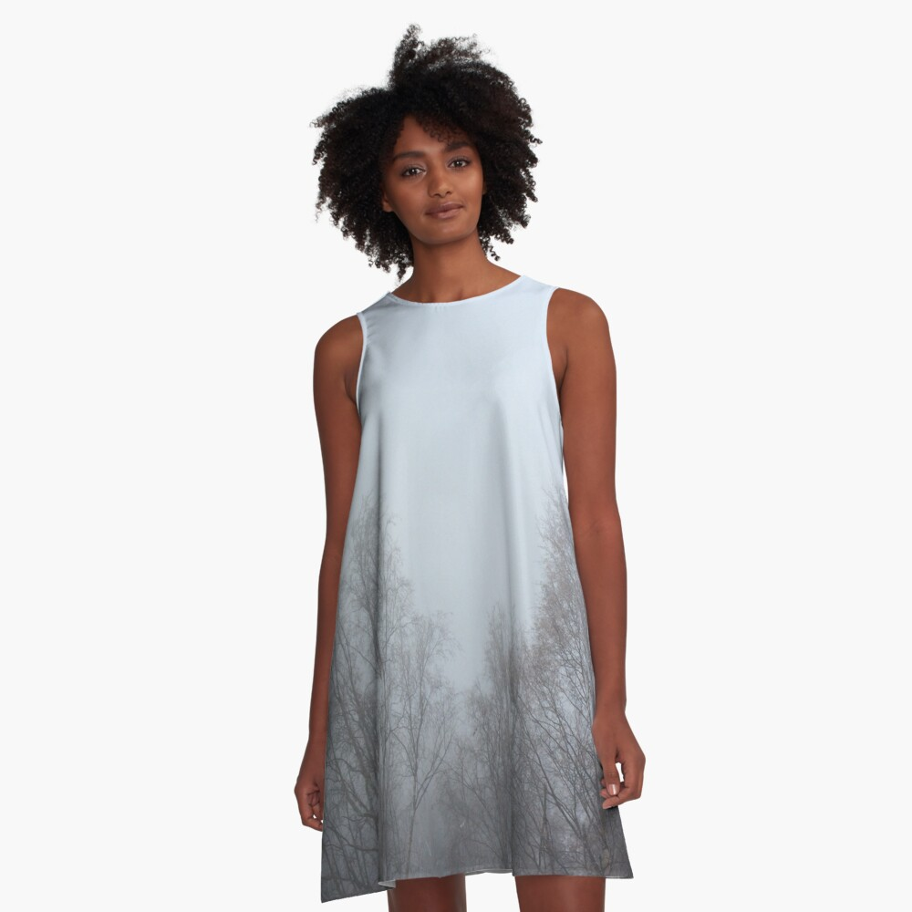 Mystic Winter Morning A-Line Dress Front