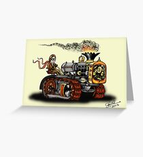 Steampunk Best Tractor 1923 Greeting Card