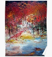 Trees in autumn Poster