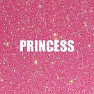 Pink Glittery Princess by 4ogo Design
