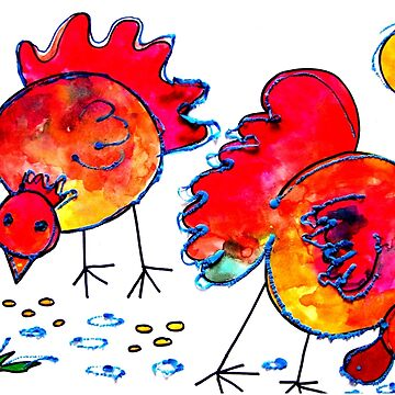 Chickens for children up to 80 years and older... by Happyart