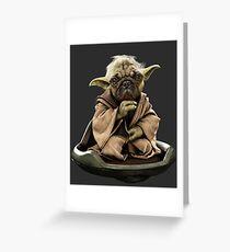 Yoda Pug Star Wars Tee Greeting Card