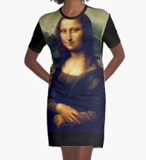 The Mona Lisa Graphic T-Shirt Dress