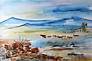 Cattle going home by Elizabeth Kendall