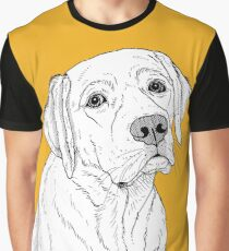 Labrador Dog Portrait Graphic T-Shirt