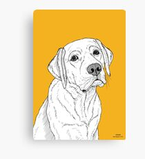 Labrador Dog Portrait Canvas Print