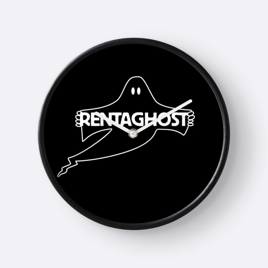 Rentaghost Black Wall Clock