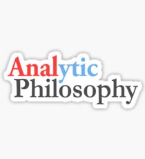 Analytic philosophy, style two  Sticker