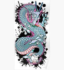 Peach Melba Splash Dragon Tattoo Poster