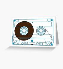 Audio Cassette Tape Greeting Card