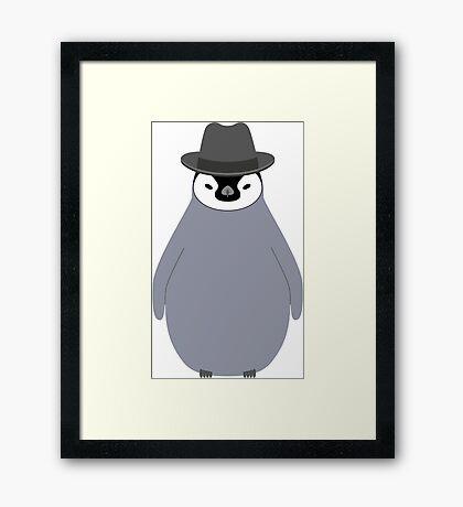 NDVH Baby Penguin Wearing a Homburg Framed Print