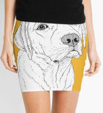 Labrador Dog Portrait Mini Skirt