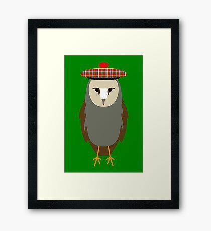NDVH Owl Wearing a Tam o'Shanter Framed Print