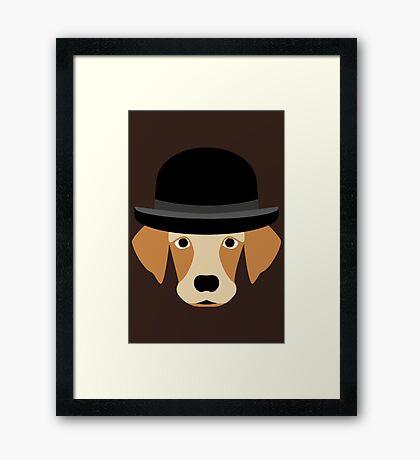NDVH Dog Wearing a Bowler Hat Framed Print