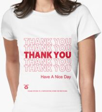 Camiseta entallada camisa de bolsa de plástico - gracias