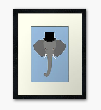 NDVH Elephant Wearing a Top Hat Framed Print