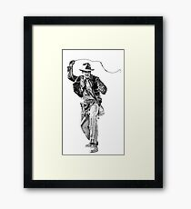 Indiana Jones Hand-drawing Framed Print