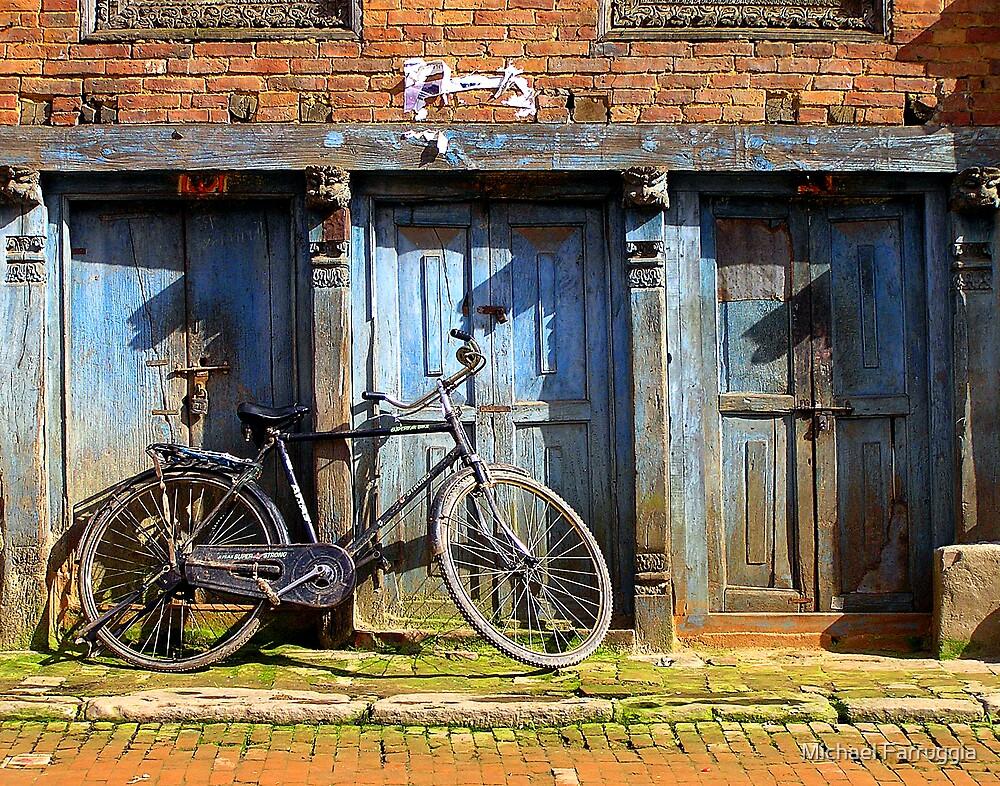 Bike In Bahktapur by Michael Farruggia