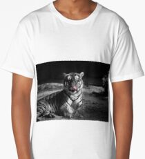 tiger, black and white Long T-Shirt
