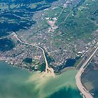 Bregenz: River Rhine entering Lake Constance by Kasia-D