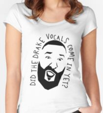 DJ Khaled Drake Vocals Women's Fitted Scoop T-Shirt