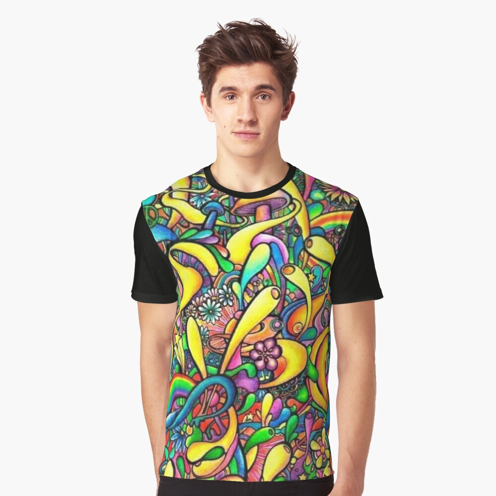 Acid trip is fun Graphic T-Shirt Front