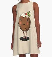Just Pudding it Out There - Merry Christmas A-Line Dress