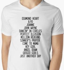 JOANNE Tracklist Men's V-Neck T-Shirt