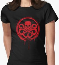 Hydra logo splatter Women's Fitted T-Shirt