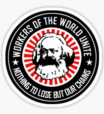 KARL MARX - WORKERS UNITE Sticker