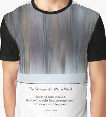 The Whisper of a Winter Wood Redux Haiku Graphic T-Shirt