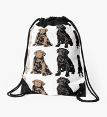 Rainbow of Puppy Love Drawstring Bag