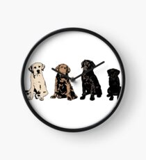 Rainbow of Puppy Love Clock