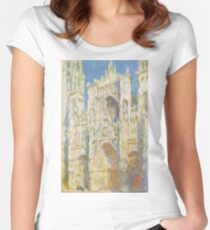Claude Monet - Rouen Cathedral, West Façade - 1894 Women's Fitted Scoop T-Shirt