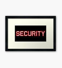 Security Framed Print