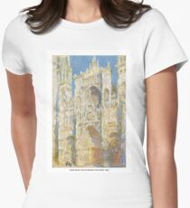Claude Monet - Rouen Cathedral, West Façade - 1894 Womens Fitted T-Shirt