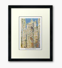 Claude Monet - Rouen Cathedral, West Façade - 1894 Framed Print