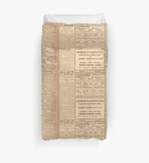 1912 Titanic return voyage newspaper advert clipping unaltered Duvet Cover
