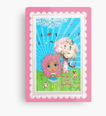 Daydreams Really Do Come True - Light Pink Hair Version Metal Print
