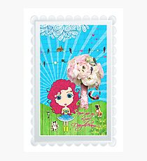 Daydreams Really Do Come True - Dark Pink Hair Version Photographic Print