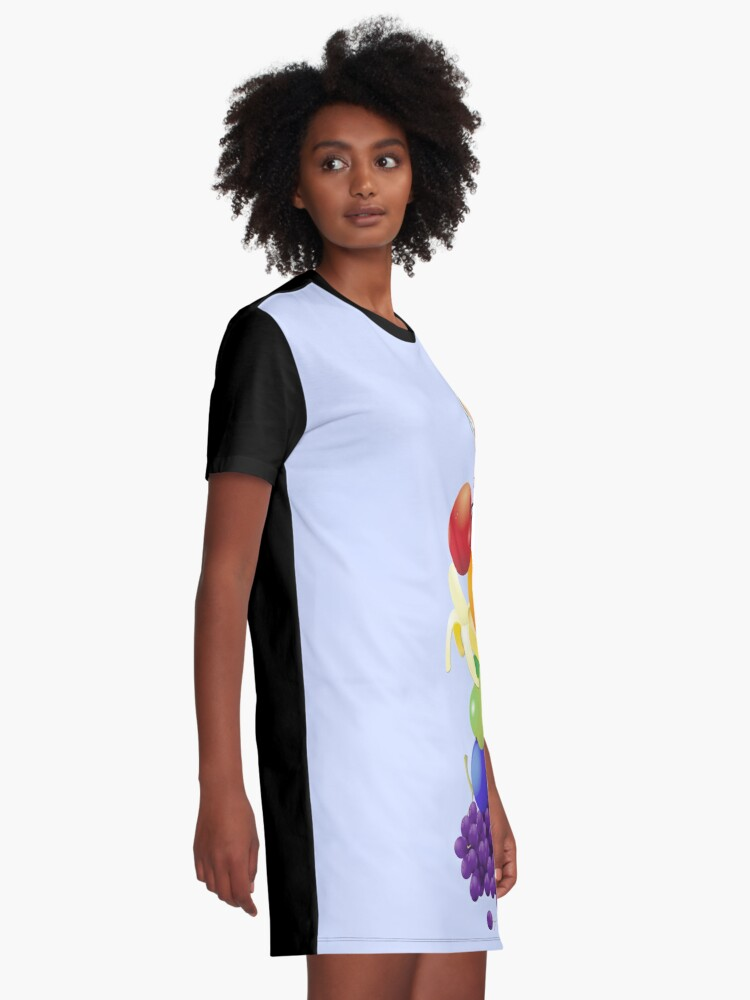 Alternate view of The Yummiest of Rainbows Graphic T-Shirt Dress