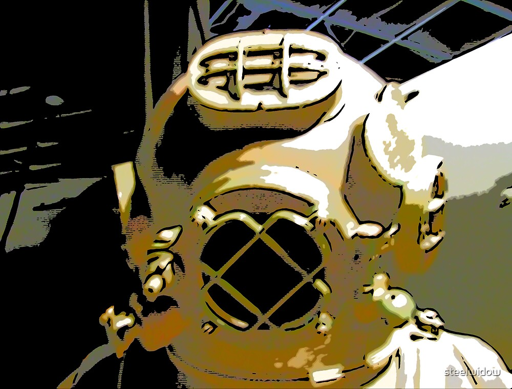 Comic Abstract Diving Helmet by steelwidow