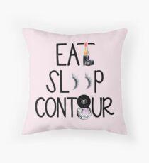 Eat, Sleep, Contour Throw Pillow
