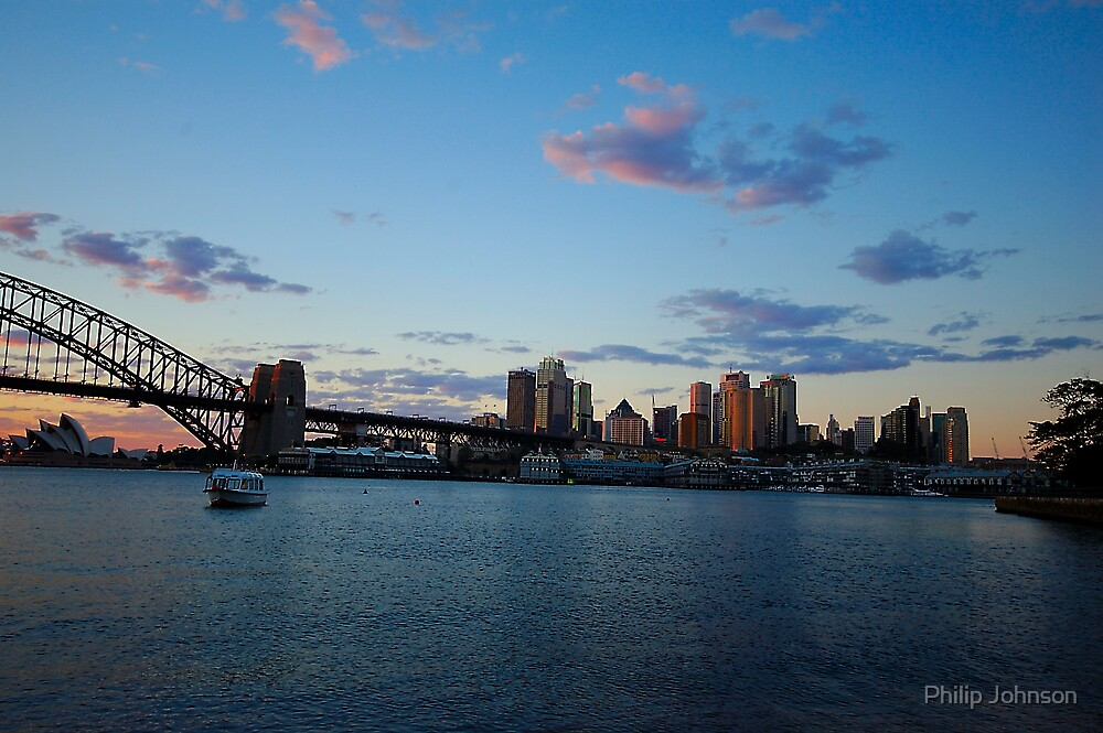 Morning Lights - Sydney Harbour by Philip Johnson