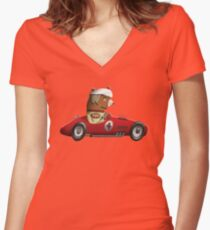 Bryan The Brown Bear Women's Fitted V-Neck T-Shirt