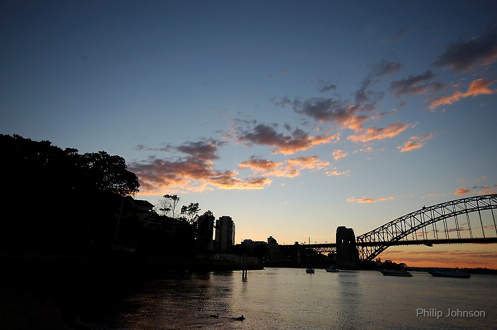 Awaiting the Day - Sydney Harbour by Philip Johnson